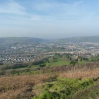 Caerphilly view from the mountain